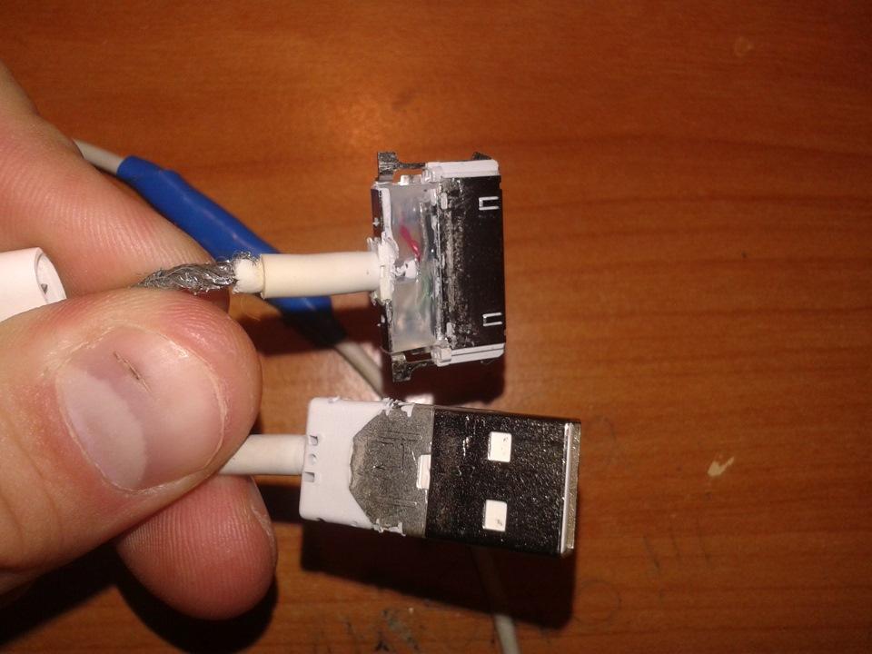 Ремонт кабелей iphone своими руками