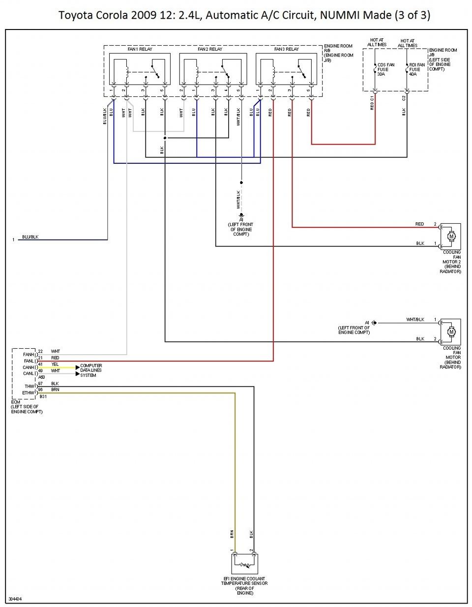 мотор тойота королла схема
