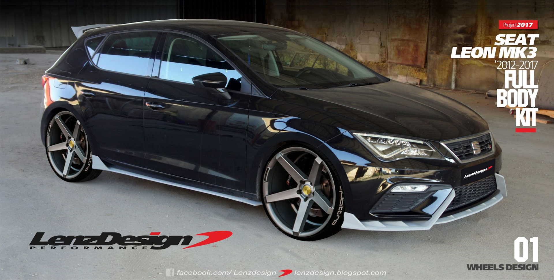 seat leon mk3 5f tuning body kit lenzdesign performance. Black Bedroom Furniture Sets. Home Design Ideas