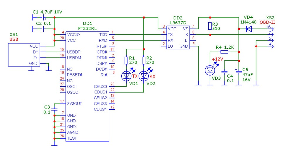 K-Line адаптер на L9637D