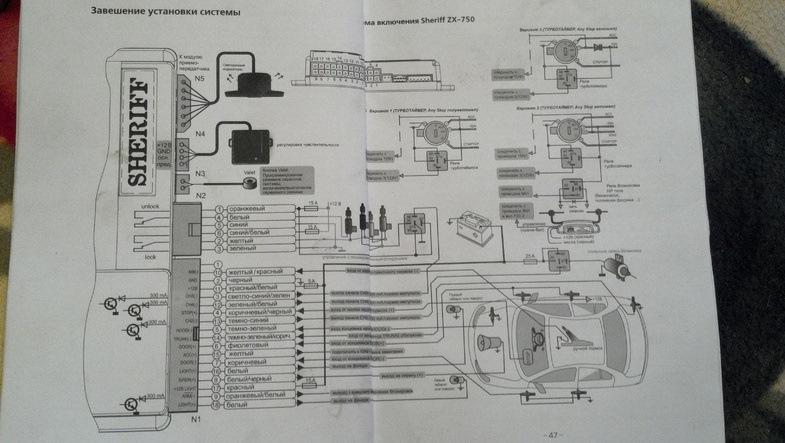 Сегодня ставили с товарищем сигналку Sheriff ZX 750.  Не удается подключить приводы.