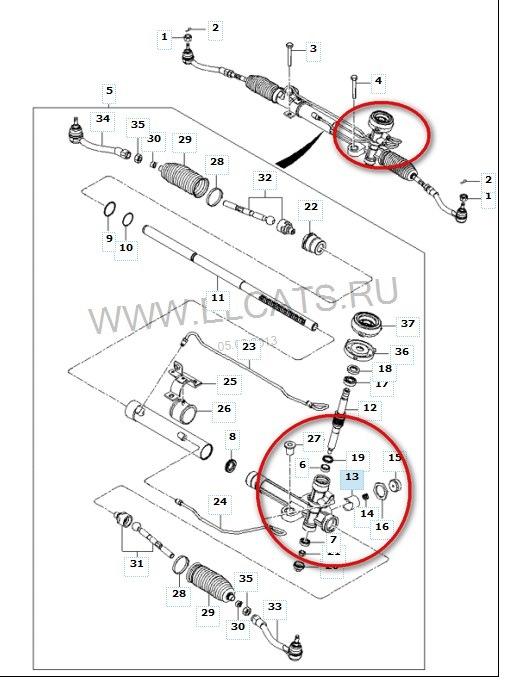 Ремонт рулевой рейки киа рио 2 своими руками