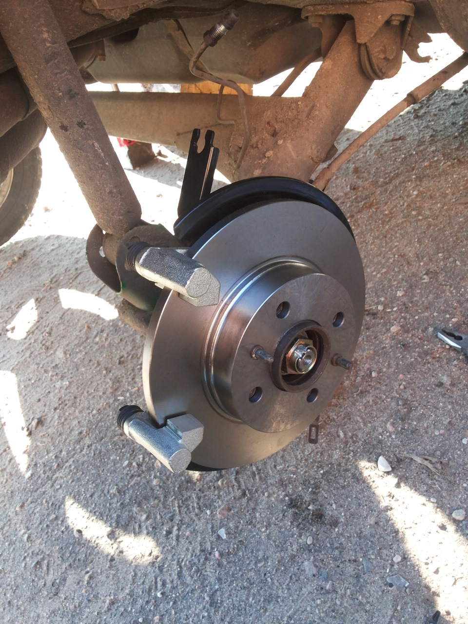 Как сделать задние дисковые тормоза на калине 2