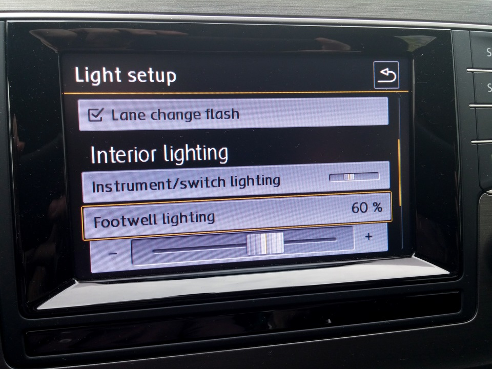 footwell lights part 1 logbook volkswagen golf 1 6 tdi. Black Bedroom Furniture Sets. Home Design Ideas