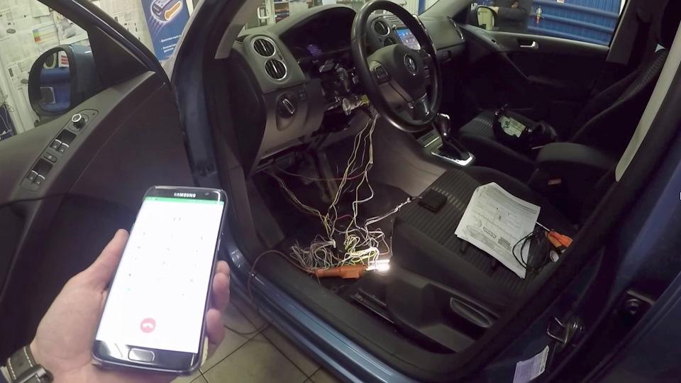 Установка сигнализации без автозапуска