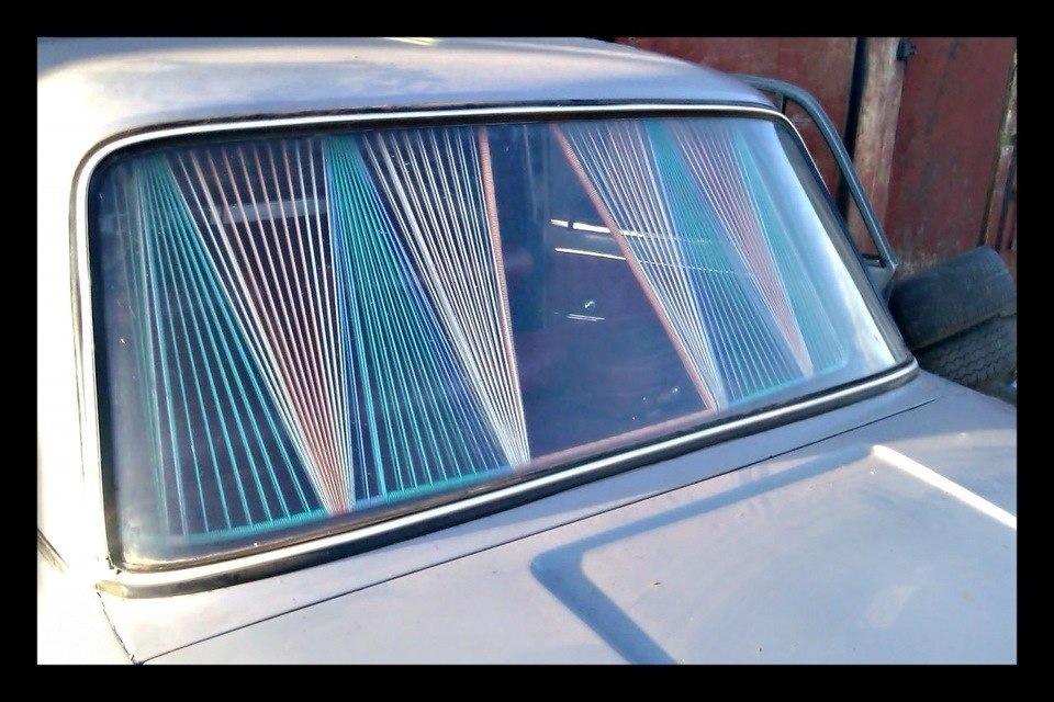 Шторки для автомобиля на заднее стекло своими руками