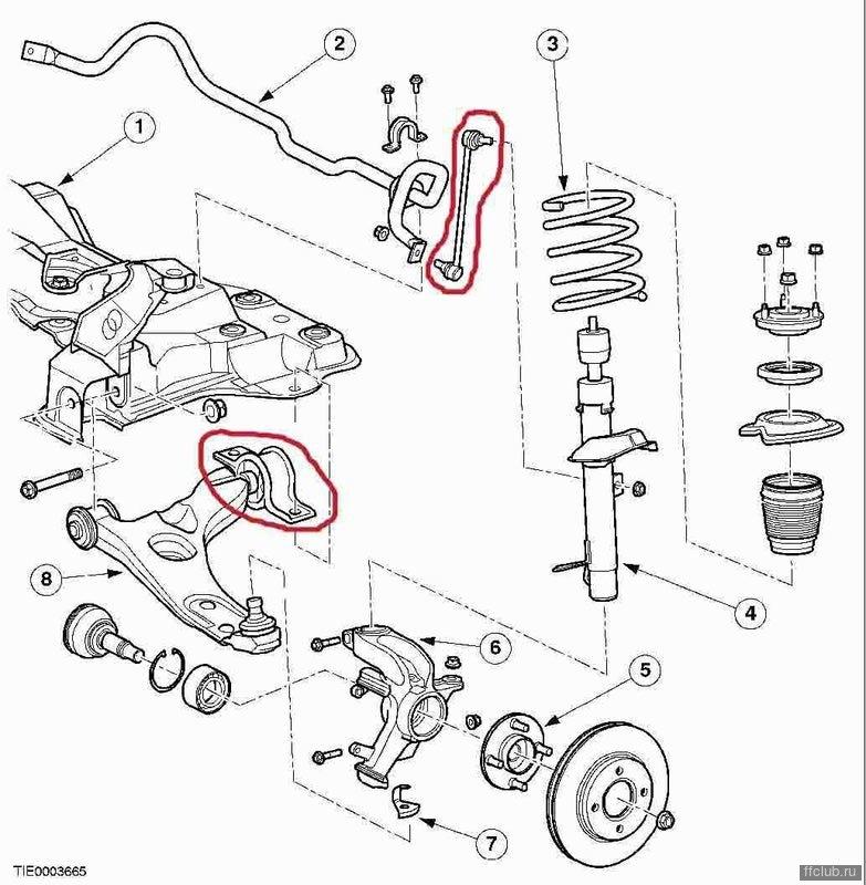 Форд фокус 1 передняя подвеска схема ремонт своими руками