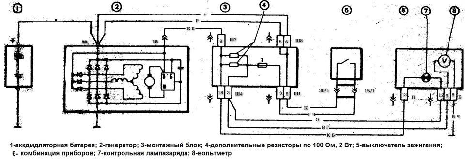 Схема диодов ваз 2106
