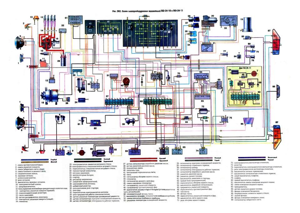 Схема электрооборудования газ 2410 с описанием