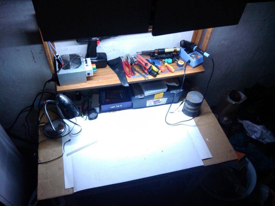 Как сделать подсветку на столе своими руками 438