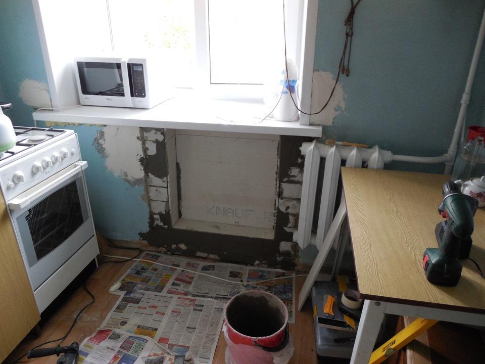 Как сделать холодильник в стене 409