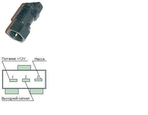 Схемка подключения датчика