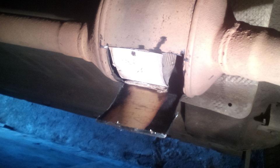 Удаление катализатора и замена прокладки приемной трубы коллектора - бортжурнал Renault Logan 2006 года на DRIVE2
