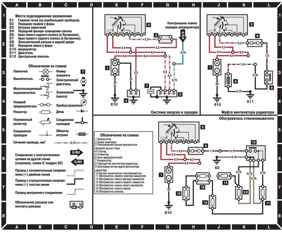 Электросхемы на Мерседес Бенц