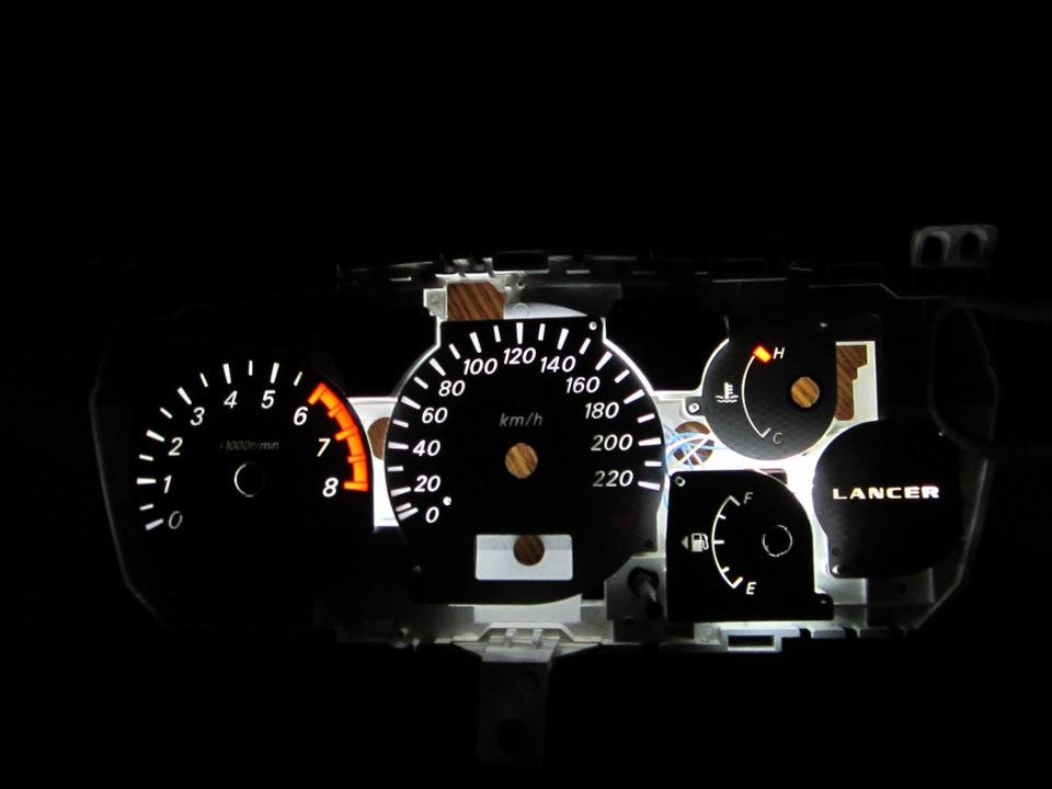 Лансер 9 своими руками подсветка панели приборов