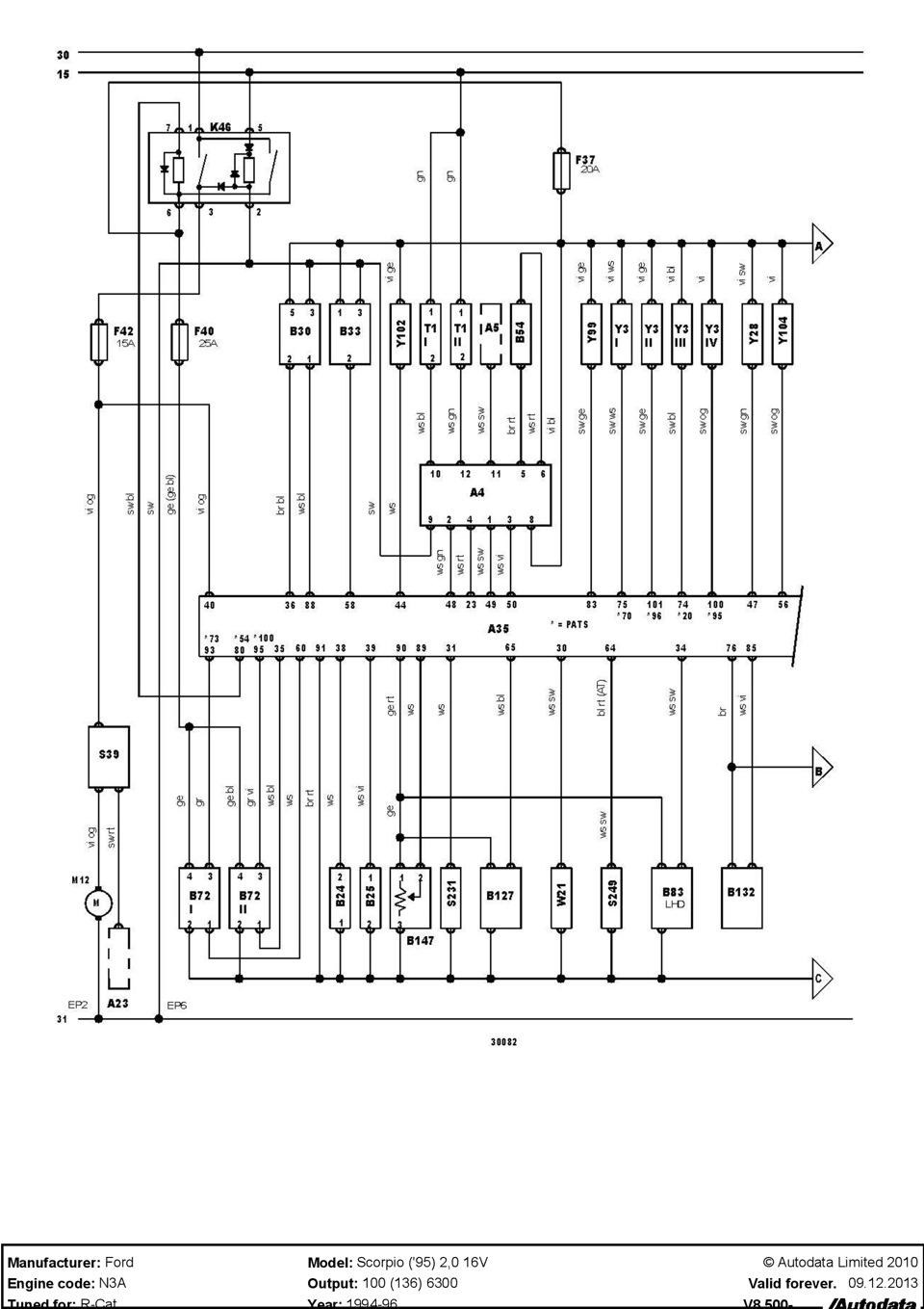 схема scorpio 95