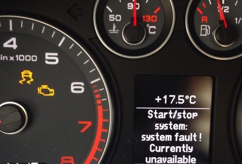 Загорелся индикатор ESP и надпись