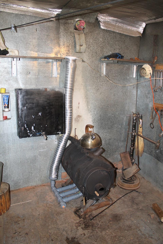 Отопление в гараже на дровах