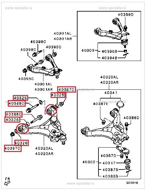 Схема передней подвески
