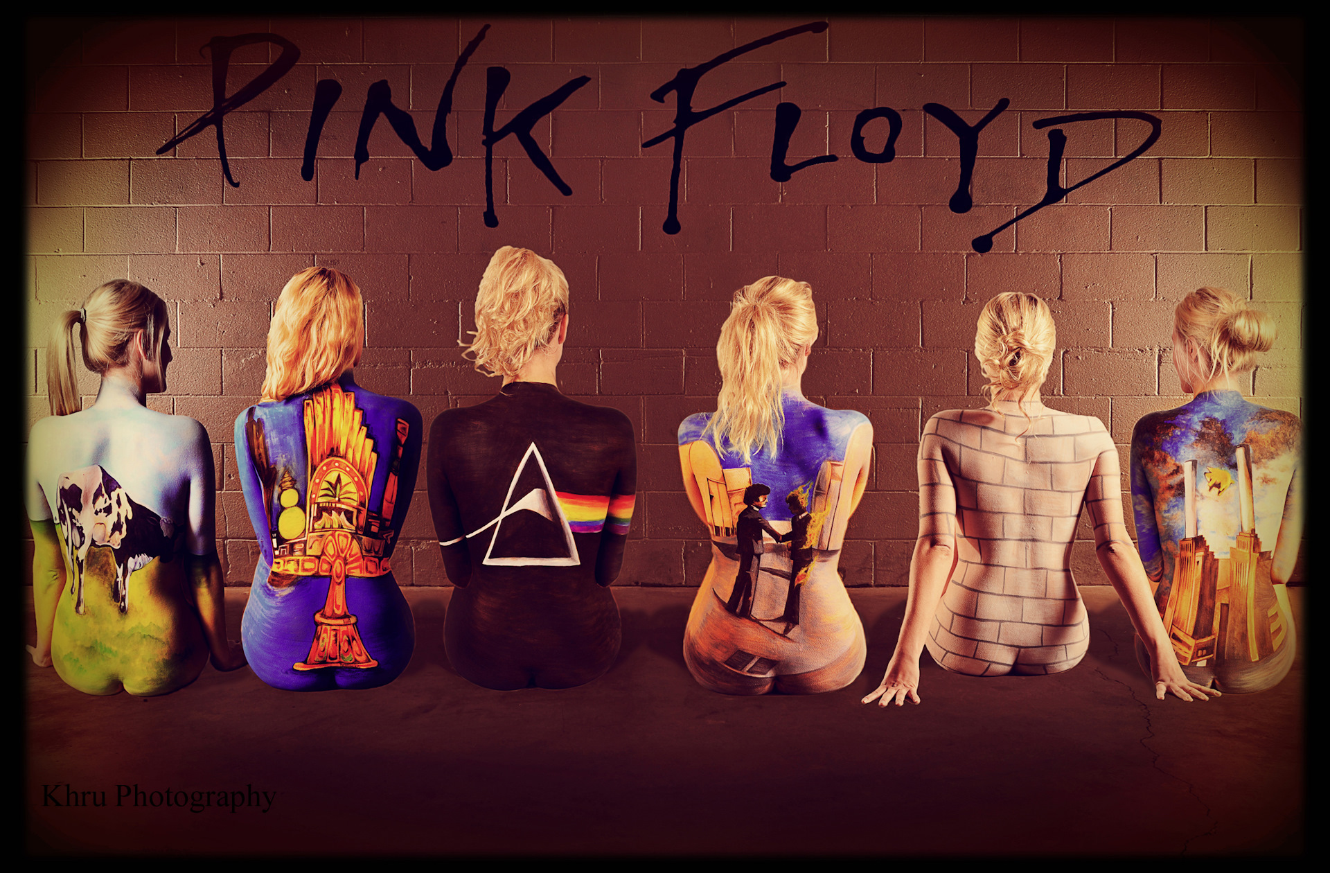 Pink floyd naked chicks poster