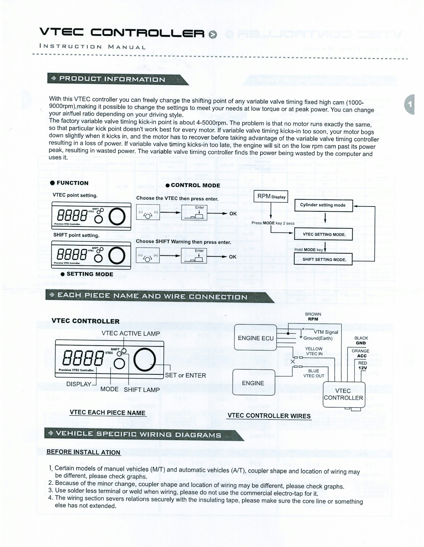 Apexi Vtec Controller Wiring Diagram Schematic Diagrams For Page 3 And Schematics Safc