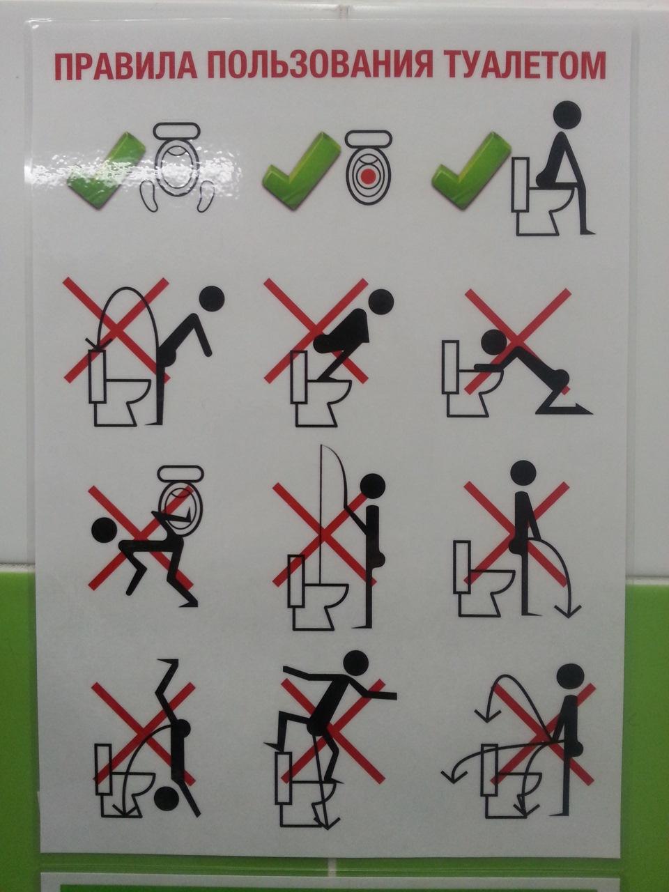 Смешные картинки правила пользования туалетом