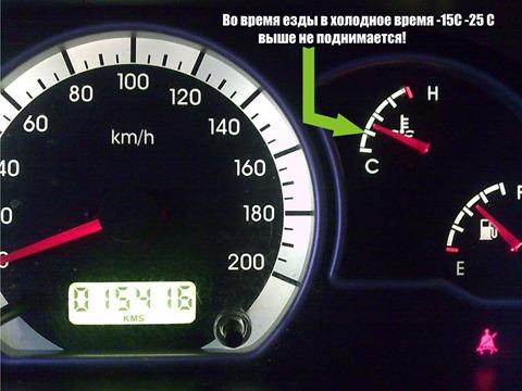 Почему температура в машине не поднимается