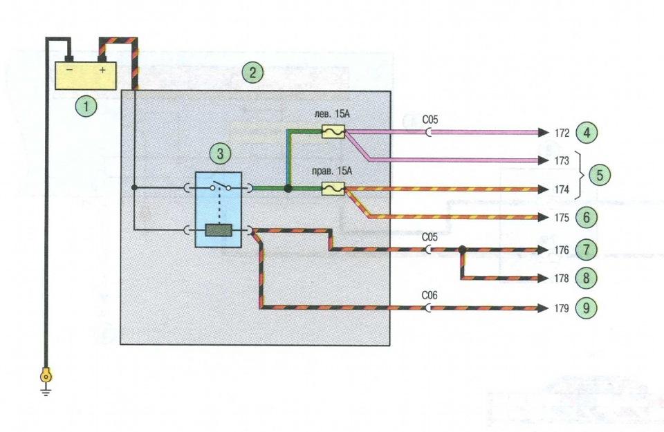 1. как видно из схемы ламп