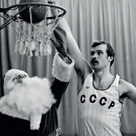 Спортивный дед мороз