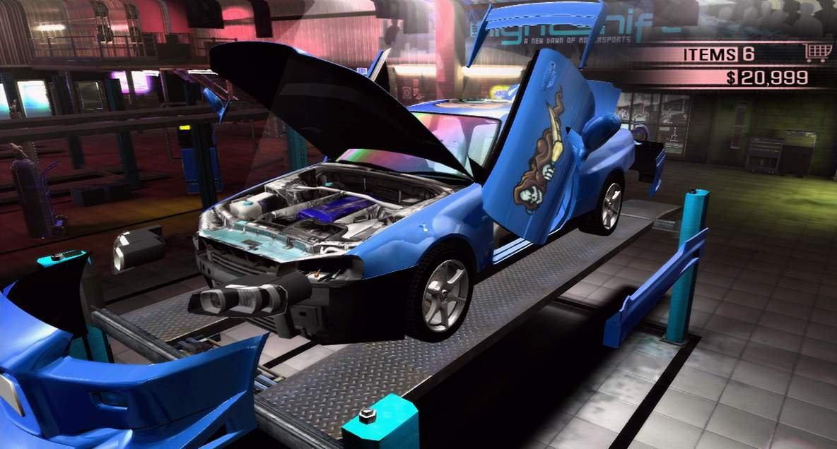 Вы можете прокачать авто в одной из трех областей - мощность, управление и снижение веса