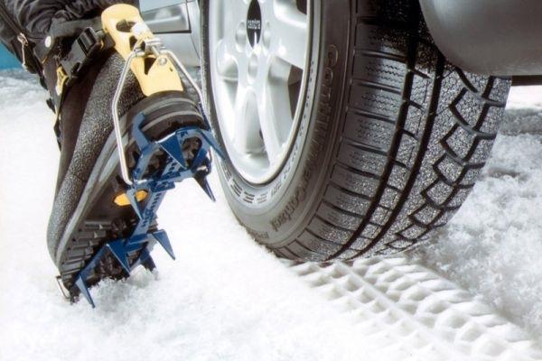 Автомобиль на зимней резине
