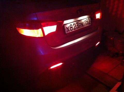 Подсветка салона киа рио