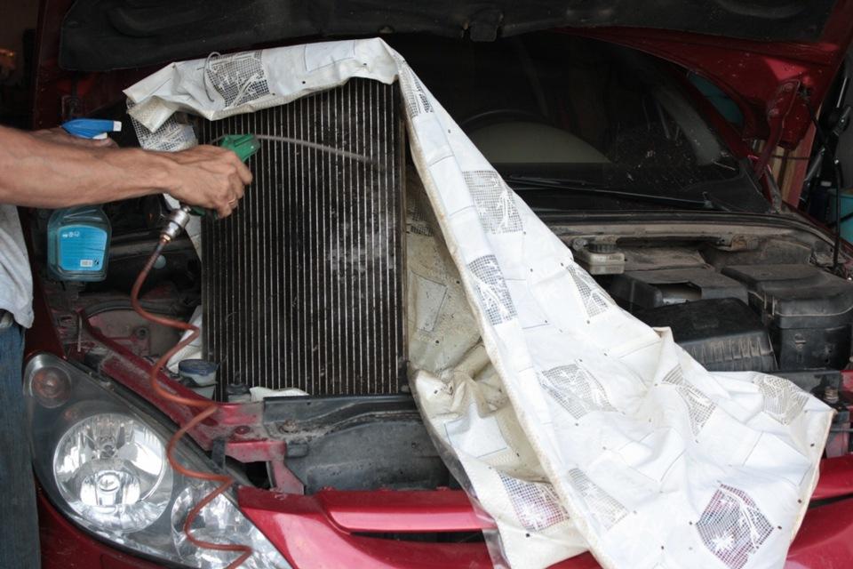 Промывка радиатора охлаждения двигателя своими руками 75