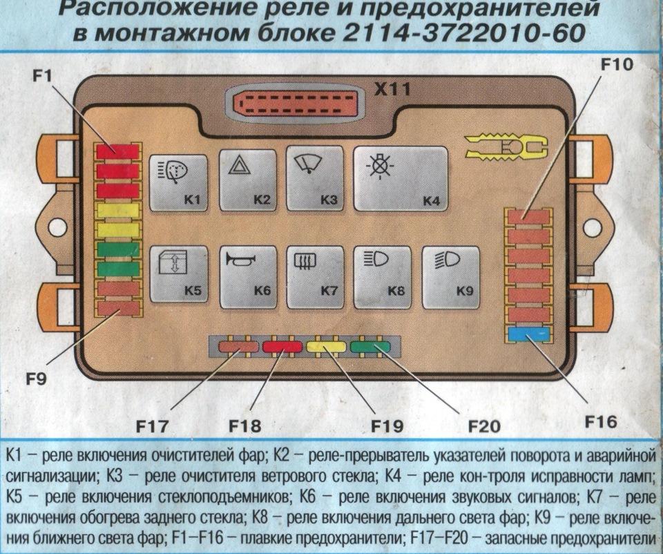 a9bfb68s 960 - Электросхема ваз 2109 монтажный блок