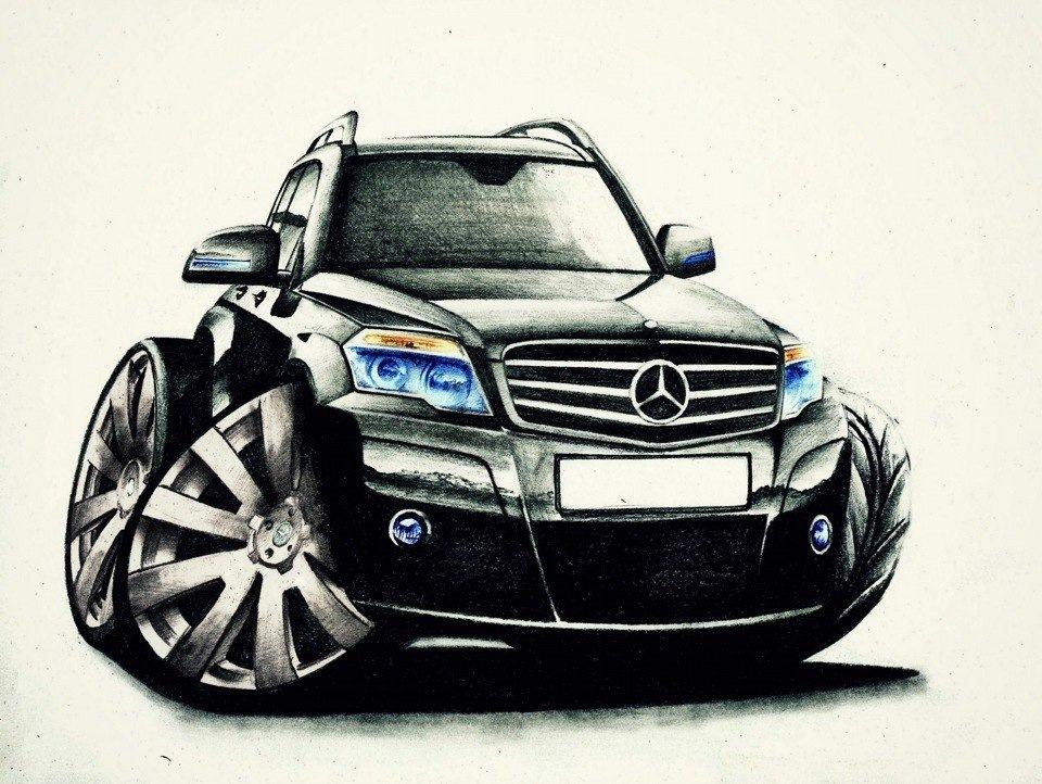 Смешные картинки нарисованные на машинах