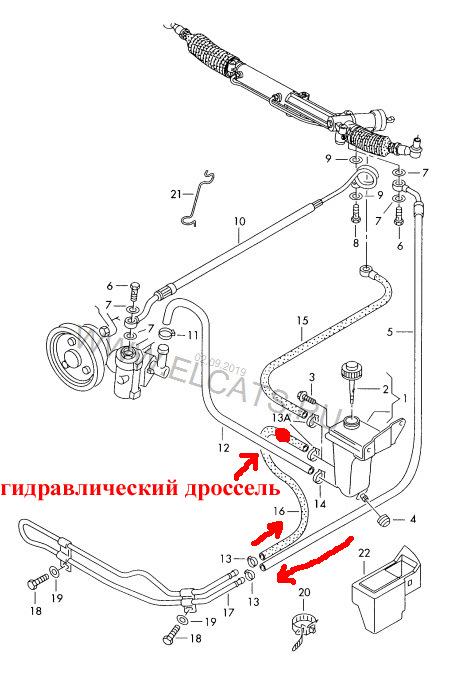 Радиатор ГУР Схема