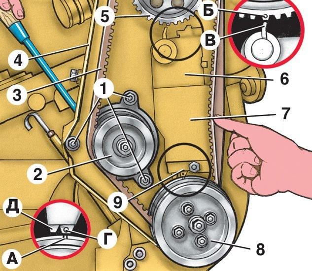установка зажигания двигателя фольксваген 1,8