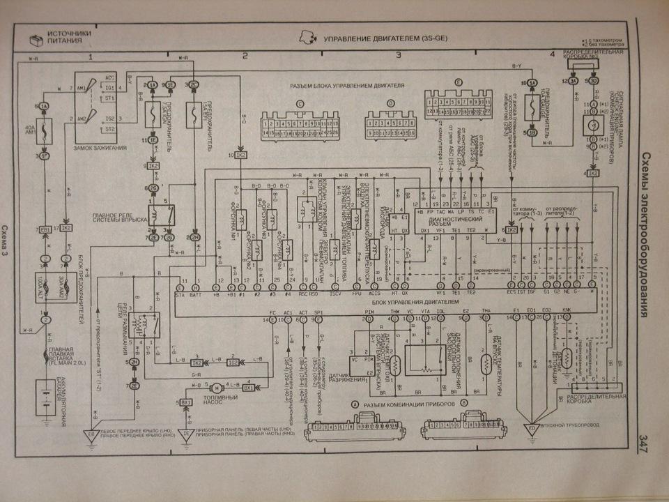 электро схема 3sge m/t gen2/3