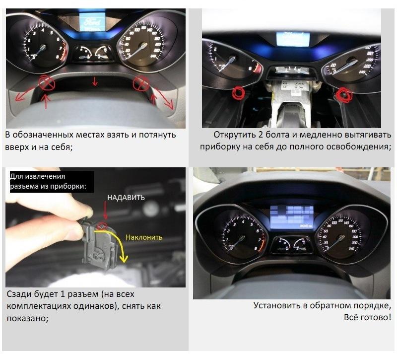 Инструкция приборная панель форд фокус инструкция