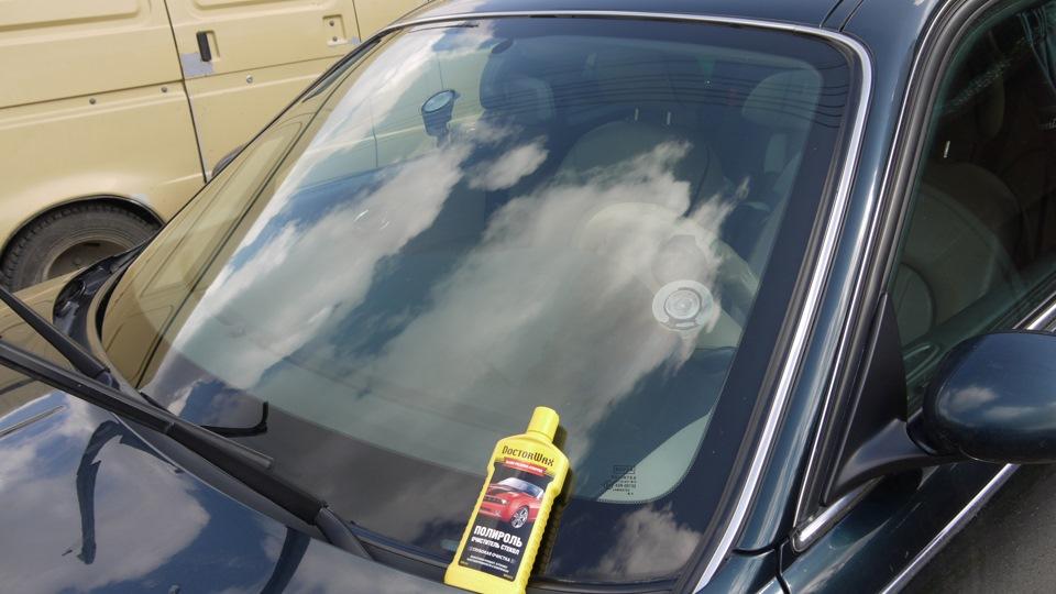 Как убрать царапину на лобовом стекле от дворника 5