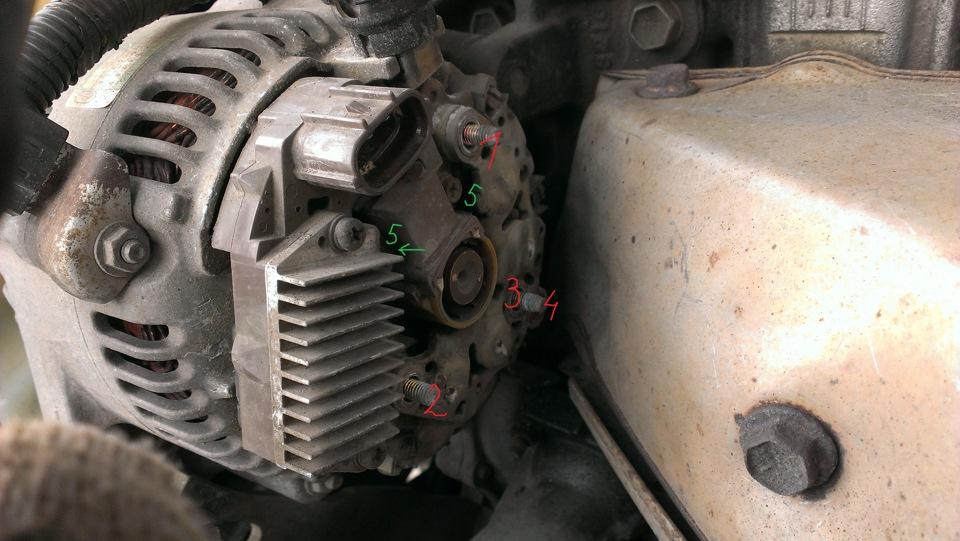 Как заменить щетки в генераторе тойота