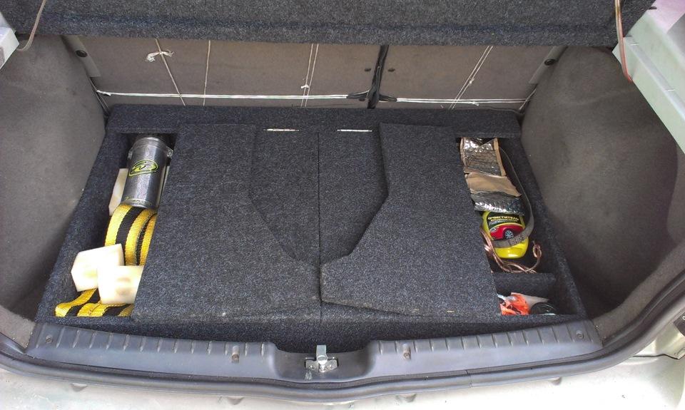 Калина хэтчбек багажник своими руками