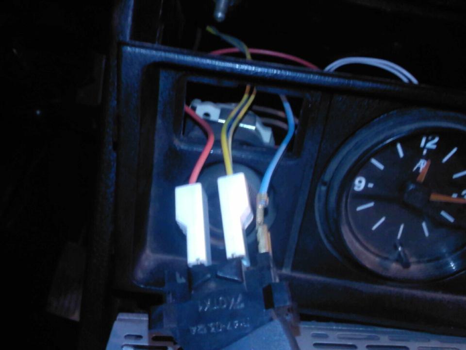 Провода переключателя печки
