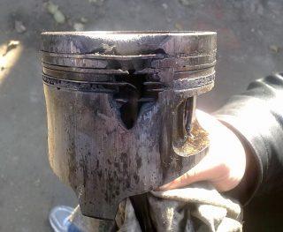 Причина прогорания поршня дизельного двигателя