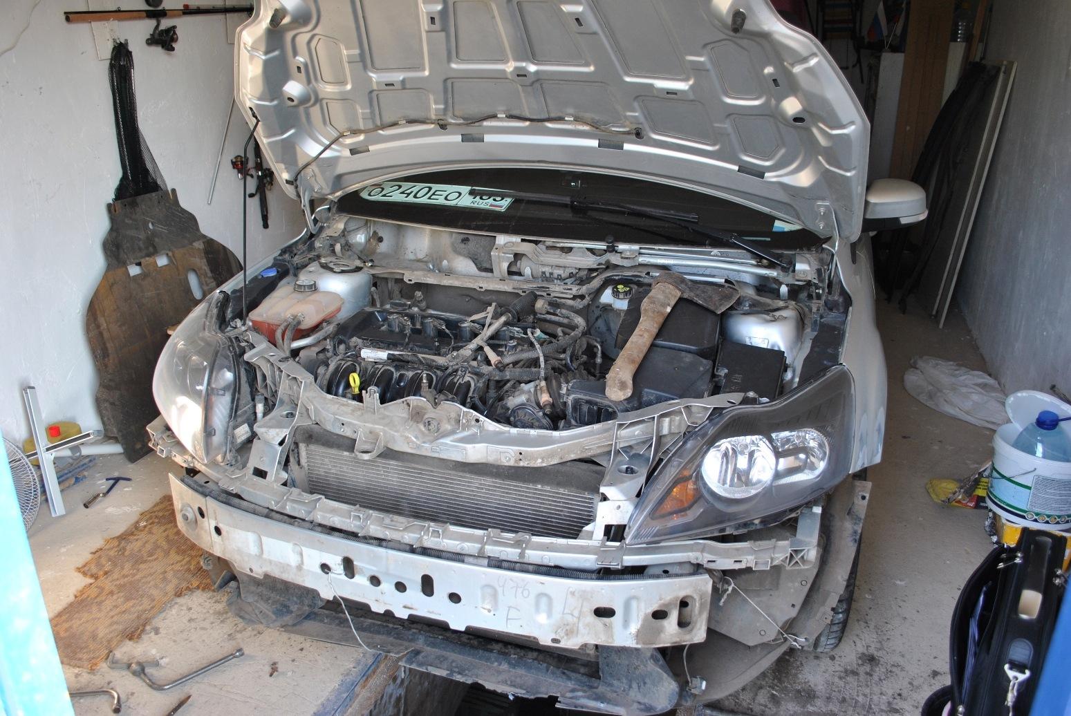 Чистка радиатора форд фокус своими руками 347