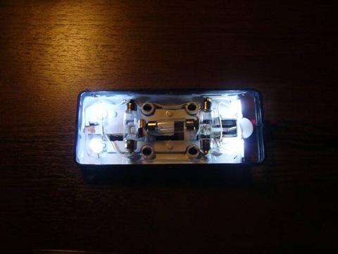 Переделка штатного плафона освещения салона.