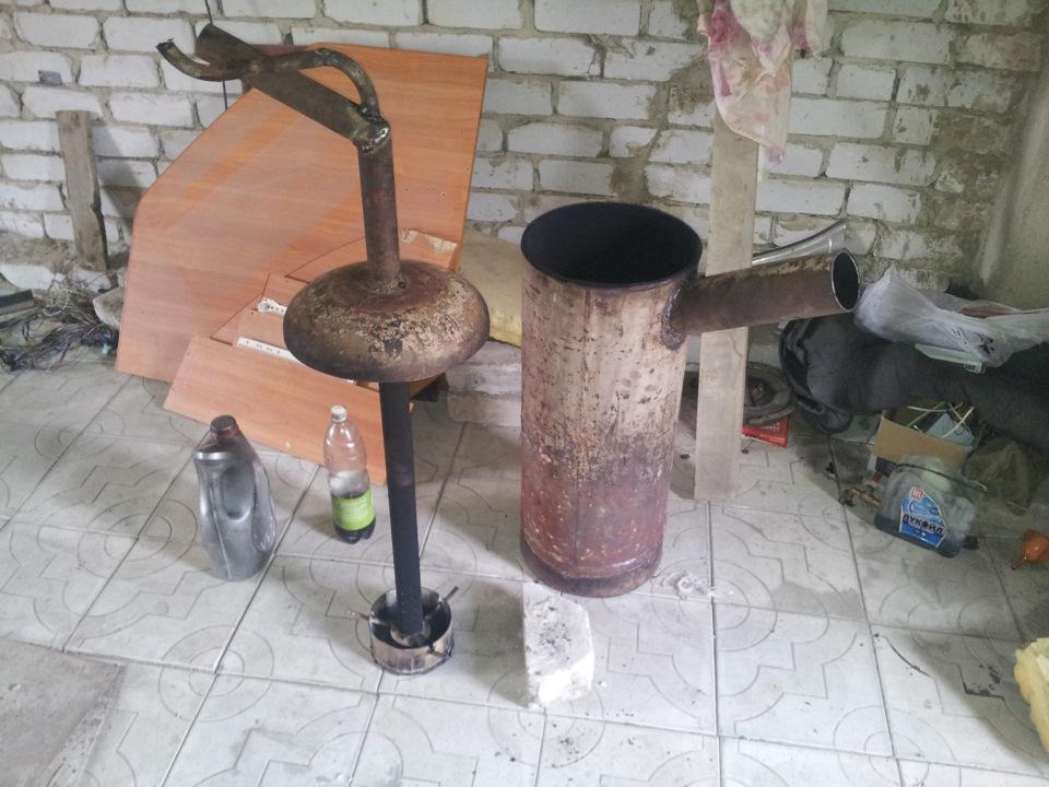 Мини печь на отработке