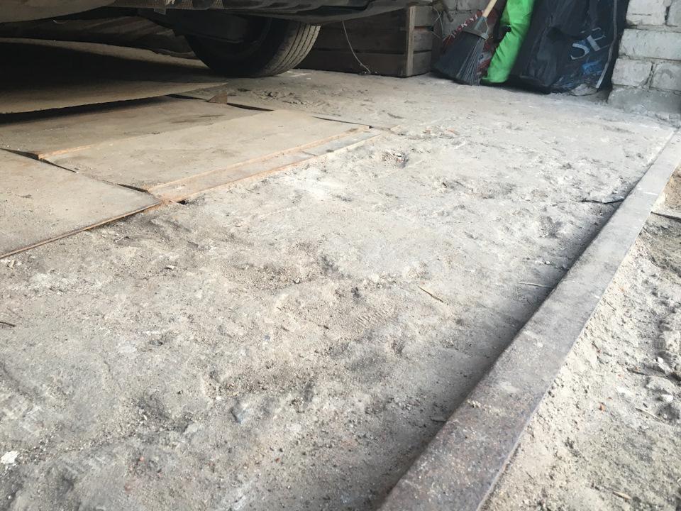 неровный бетон
