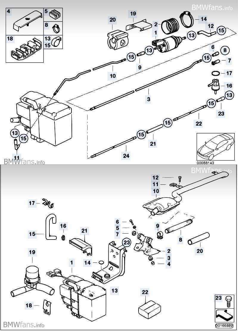 дополнительный подогреватель охлаждающей жидкости BMW e46