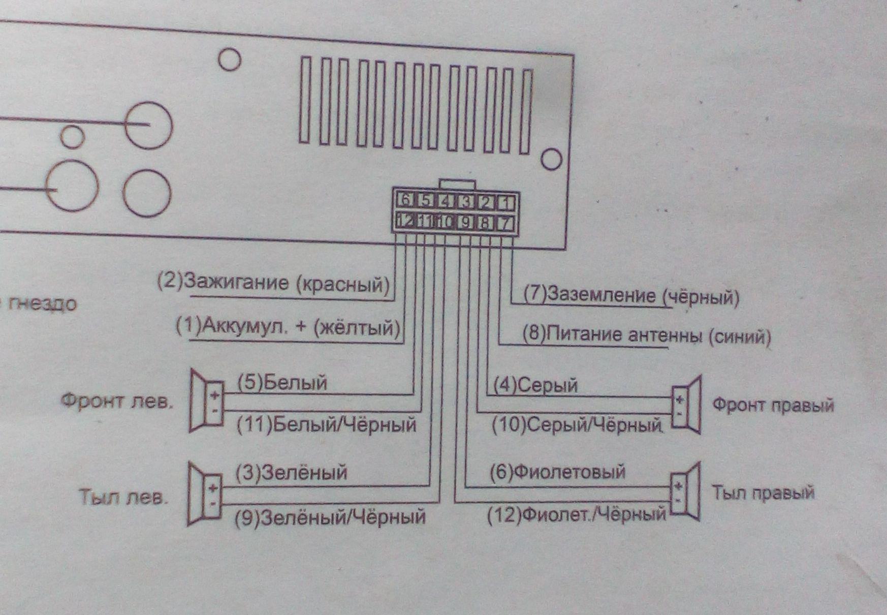 Схема подключения магнитолы картинки